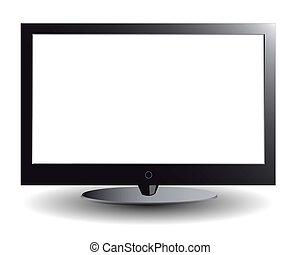 écran tv, plasma, blanc