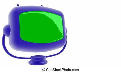écran, vert