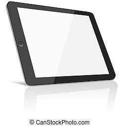 écran, vide, tablette