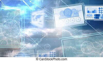 écrans, numérique, informatique, 4k, animation, business, graphique