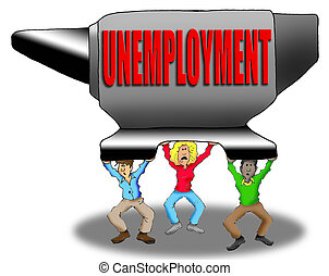 écrasant, chômage