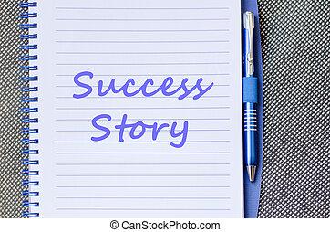 écrire, histoire, cahier, reussite
