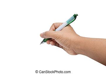 écrire, main