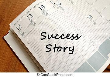 écrire, reussite, cahier, histoire