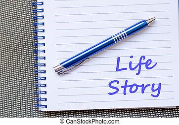 écrire, vie, cahier, histoire