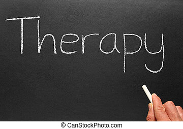 écrit, blackboard., thérapie