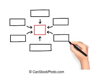 écrit, concept, 3d, business, main