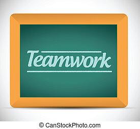 écrit, message, collaboration, tableau