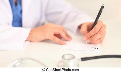 écriture, femme, prescription