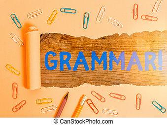 écriture, structure, business, syntax, conceptuel, entier, système, texte, morphology., langue, main, projection, photo, grammar.