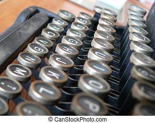 écrivain, type, clavier