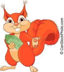 écureuil, billets