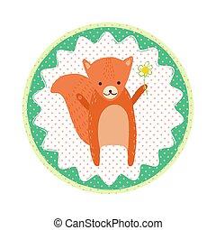 écureuil, emblème, écusson
