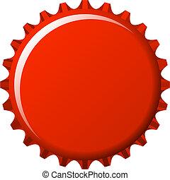 écusson, eau, casquette, bouton rouge, couronne