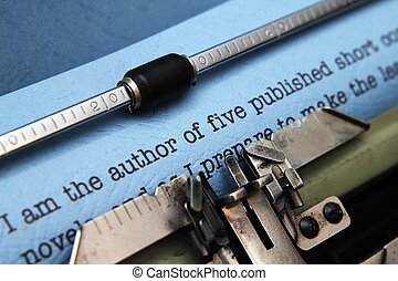 éditeur, lettre, auteur