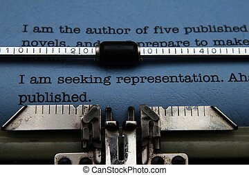 édition, lettre, machine écrire