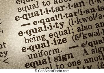 égalité, définition
