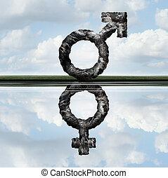 égalité droits, concept