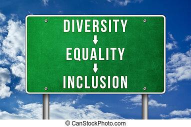 égalité, inclusion, diversité