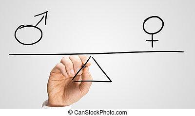 égalité, sexes, entre