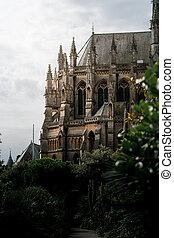 église, howard, ouest, cathédrale, blooming., rue, arundel, philip, england., fleurs, sussex, été, 2020, notre, dame
