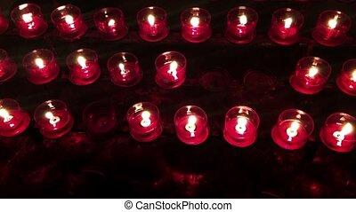 église, lumière, souhait, bougie, bougies