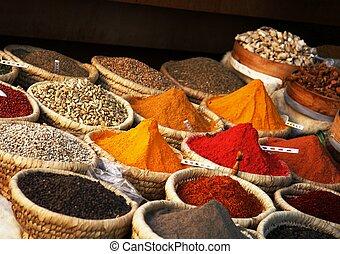 égyptien, épice, marché