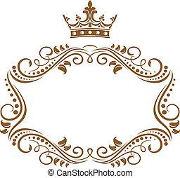 élégant, cadre, couronne royale