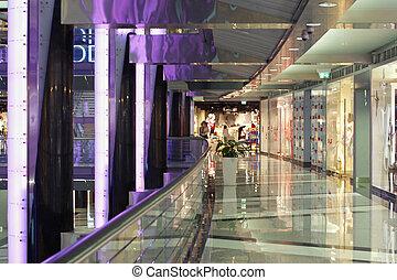élégant, centre commercial, achats