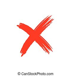 élément, signe, grunge, croix