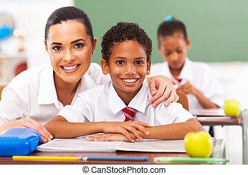 élémentaire, étudiants, eduquer enseignant