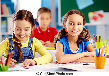 élémentaire, étudiants