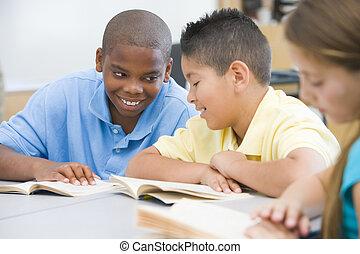 élémentaire, classe, école