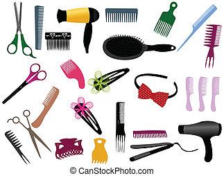 éléments, coiffeur