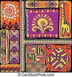 éléments, conception, africaine