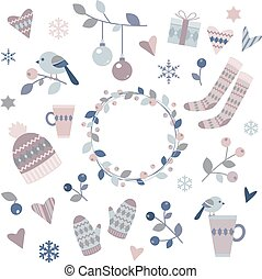 éléments, conception, hiver