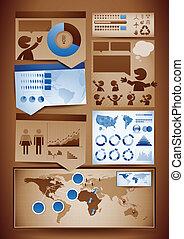éléments, conception, infographics