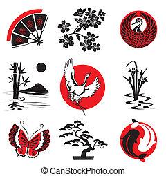 éléments, conception, japonaise