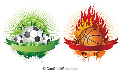 éléments, conception, sports