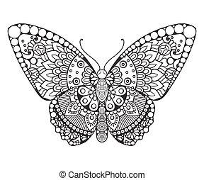 éléments décoratifs, butterfly., vendange