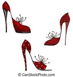 éléments décoratifs, -, chaussures
