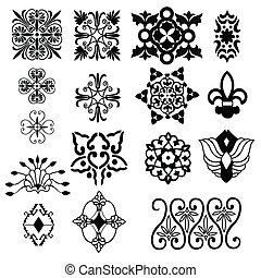 éléments décoratifs, conception