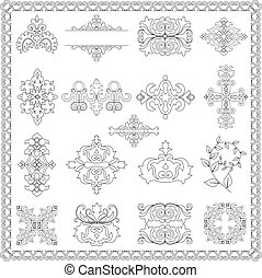 éléments décoratifs, conception, (line)