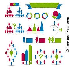 éléments, ensemble, infographic, conception, humain