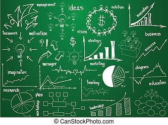 éléments, graphiques, diagrammes