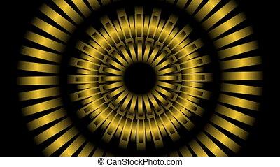 éléments, loop., bourdonner, résumé, seamless, métallique, tourner, vidéo, colors., fond, droit, changer, cercle, gauche