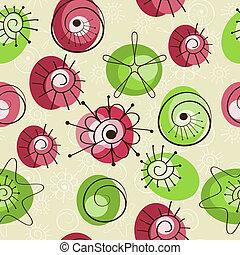 éléments, printemps, résumé, seamless, fond, vecteur, floral