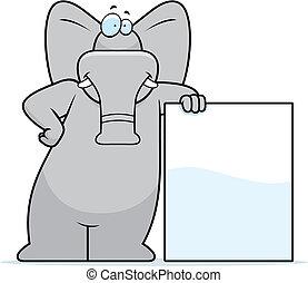 éléphant, penchant