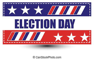 élection, fond, jour