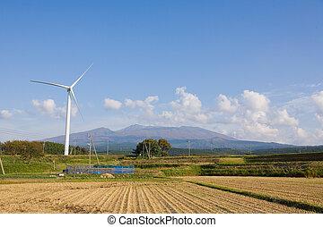 électricité, wind-generated